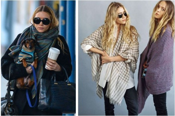 tenências do inverno 2015 ilustradas pelas irmãs Mary-Kate e Ashley Olsen, donas da grife The Row