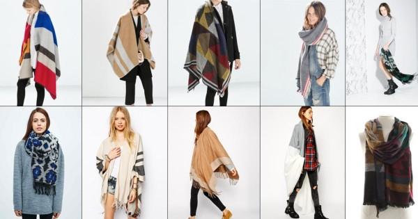vários modelos de echarpe, o lenço e o cachecol para o inverno 2015