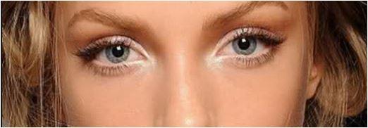 iluminar o canto interno dos olhos com sombra