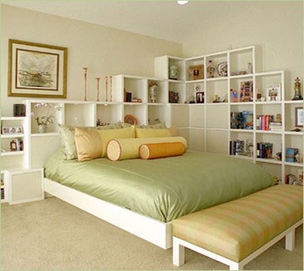 prateleiras para decorar o quarto pequeno