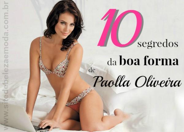 10 segredos da boa forma de Paolla Oliveira