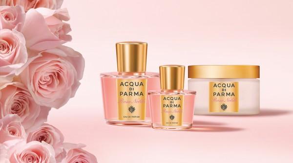 lançamentos de perfume inclui o Rosa Nóbile, Acqua di Parma