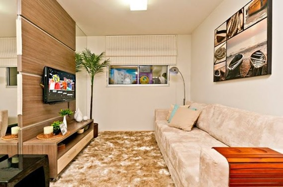 decoracao de uma sala pequena: de itens no local, maior ele vai parecer, mais organizado e mais bem