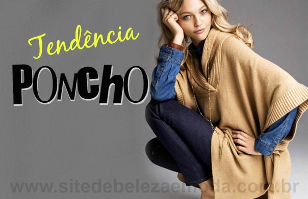 Tendência inverno 2015: Poncho