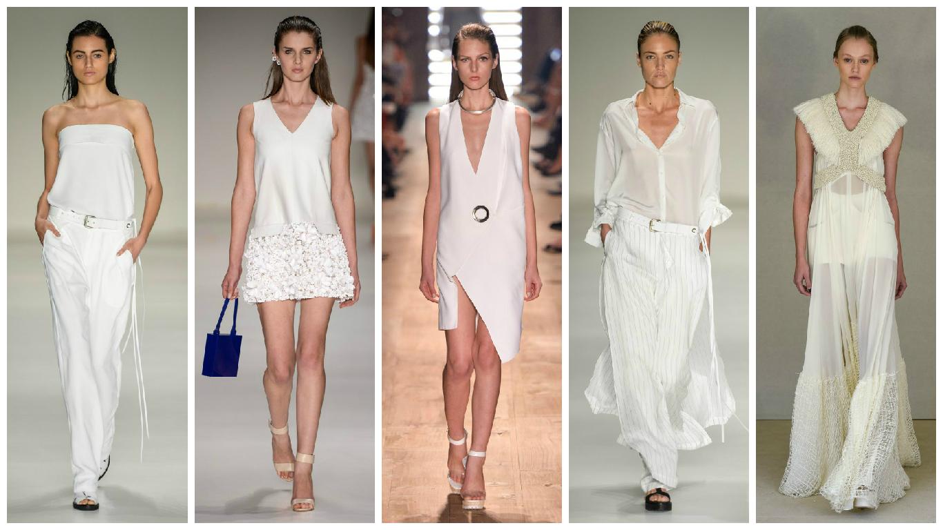 Tendências da moda verão 2016 com branco total