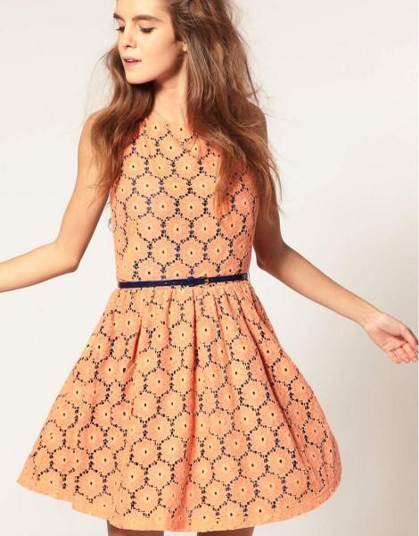 vestido de renda da moda casual