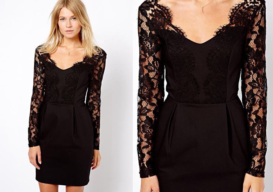 vestido de renda para noite
