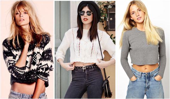 Moda inverno 2015: Look ousado com Suéter Cropped