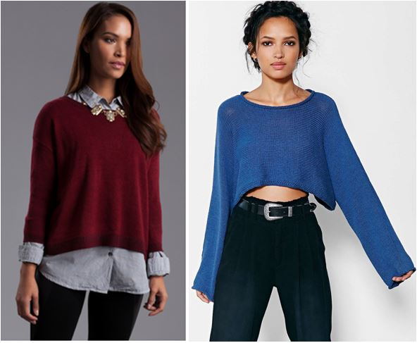 Suéter Cropped na Moda inverno 2015