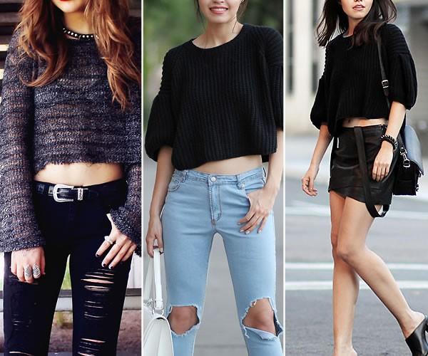 Como usar Suéter Cropped item da Moda inverno 2015