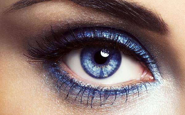cor e brilho para olhos pequenos