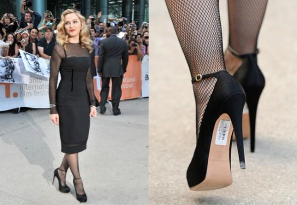 Madonna usando  Meia-calça Arrastão