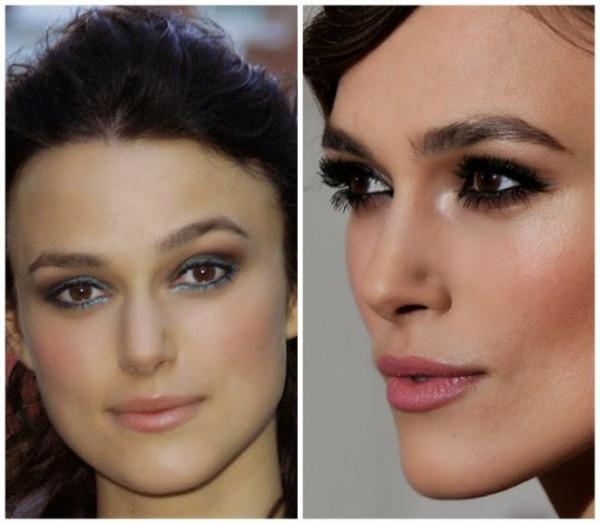 foto de famosa aantes e depois da micropigmentação nas sobrancelhas