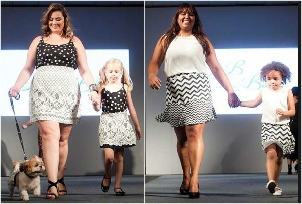 Moda Plus Size em preto e branco