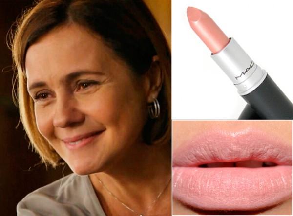 Adriana Esteves, como Inês, ela usa e abusa do matom nude