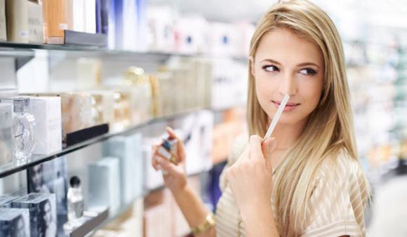escolhendo o perfume