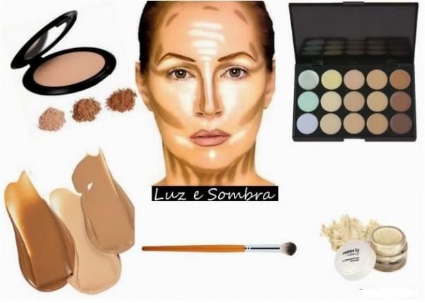 Afinar a Bochecha com maquiagem
