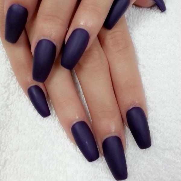 Ballerina Nails na cor azul marinho