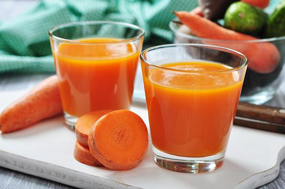 benefícios do suco de cenoura