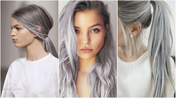 Mulheres usando cabelos brancos