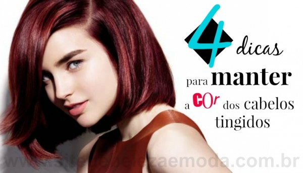4 dicas para manter a cor dos cabelos tingidos