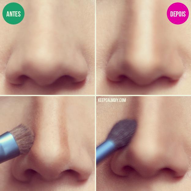 maquiagem para afinar o nariz passo a passo