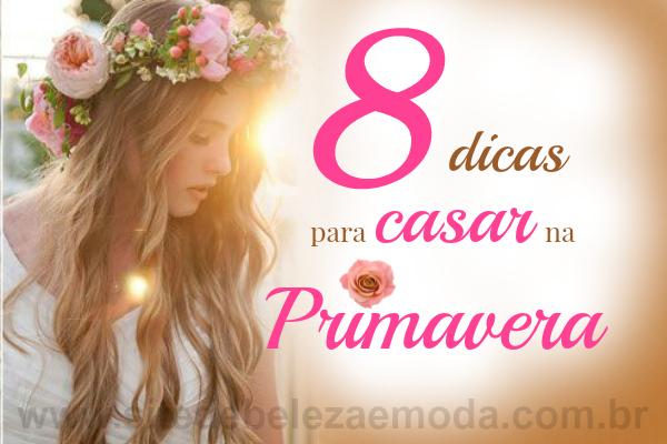 8 dicas para um casamento perfeito na primavera