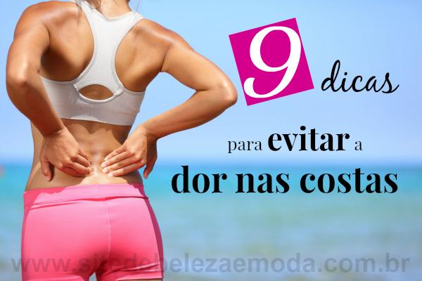 9 dicas para evitar a dor nas costas