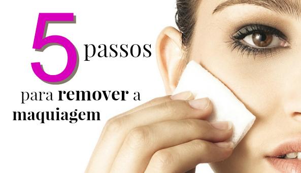 5 passos para remover a maquiagem