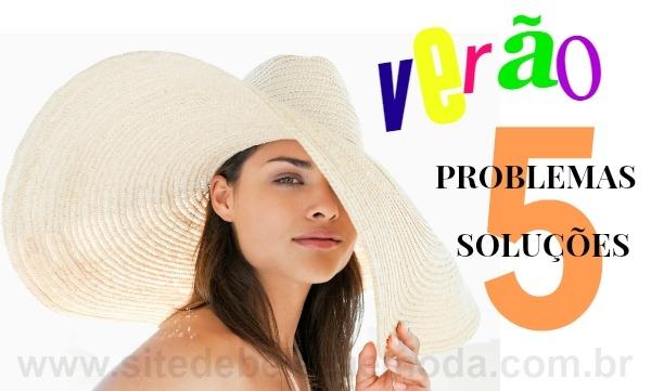 Verão: 5 problemas de beleza e 5 soluções