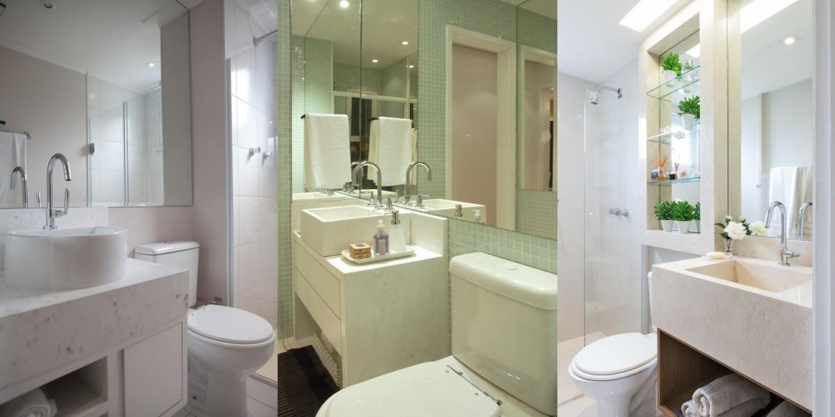 O segredo para conseguir decorar um banheiro pequeno