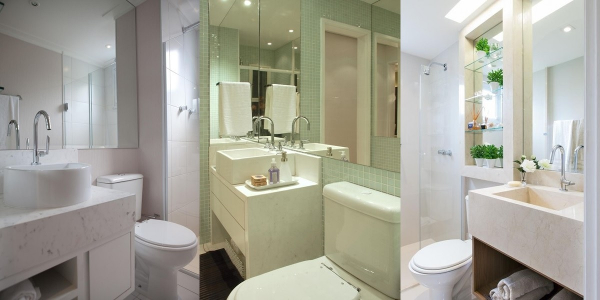 Como decorar banheiro pequeno  Site de Beleza e Moda -> Banheiro Pequeno Metragem
