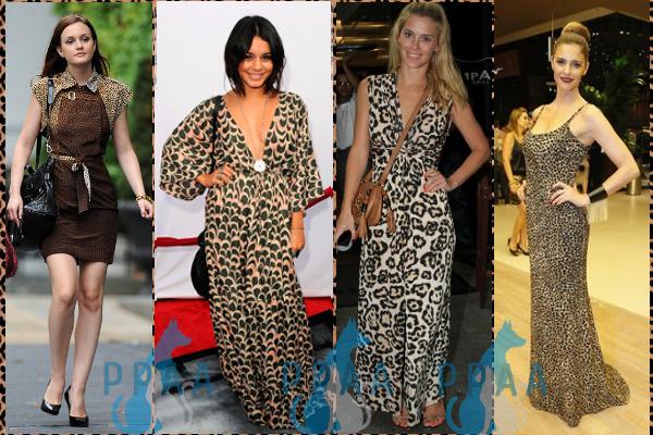 vestidos com estampa animal print