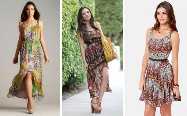 vestidos com estampa étnica