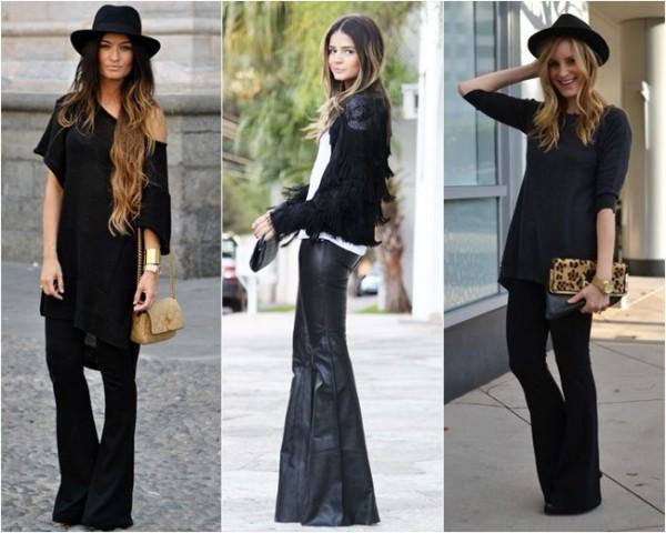 Foto de mulheres usando look com calça flare