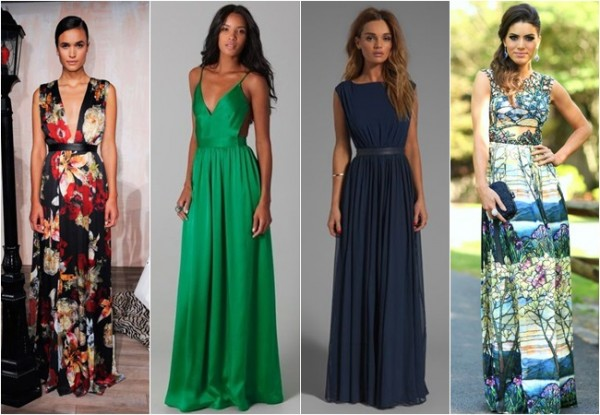 vestidos longos e elegantes para convidadas