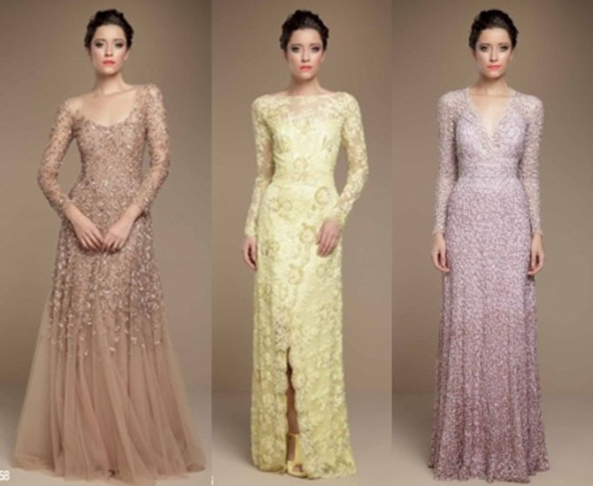 Vestidos longos para festa de casamento convidados