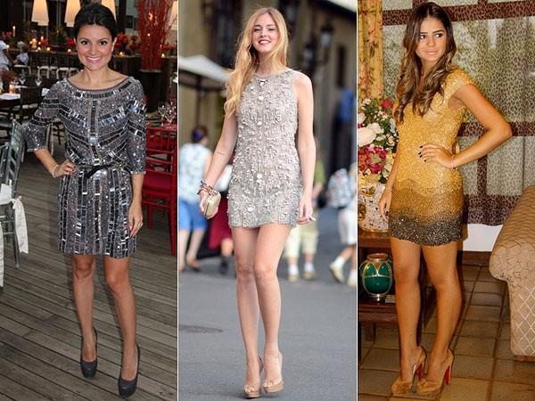 vestidos curtos com brilho