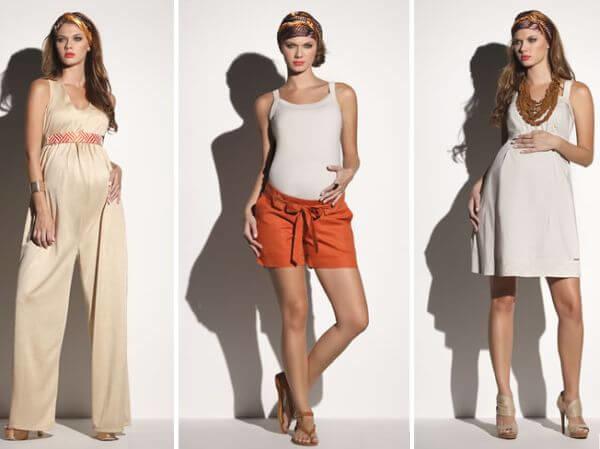 Branco e off-white na moda gestante 2016