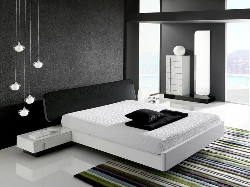 Cor preta na decoração do quarto de casal