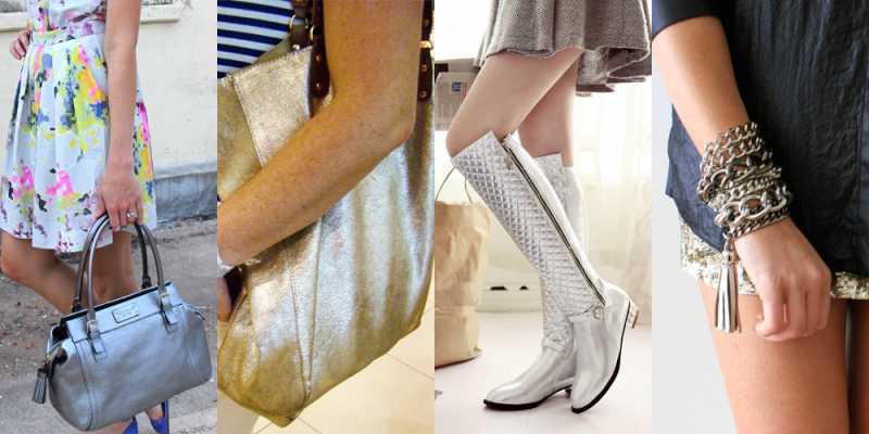 Acessórios metalizados é uma tendência da moda 2016