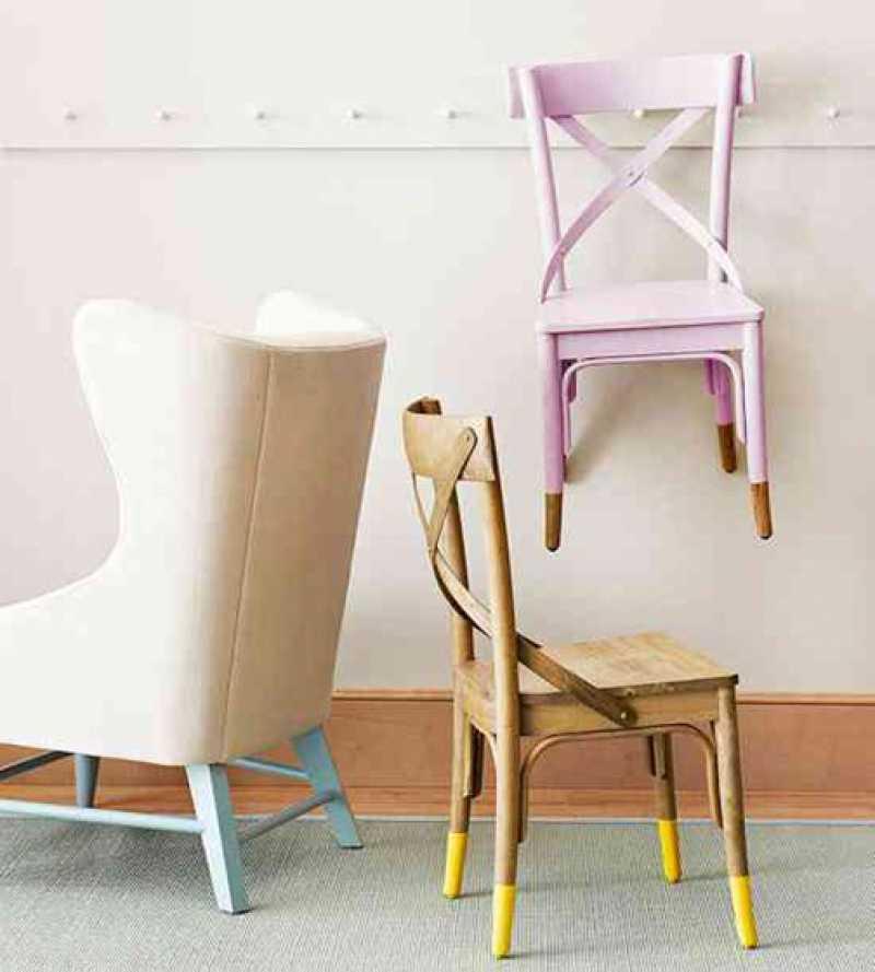 renove o visual de móveis e objetos com dip-dye