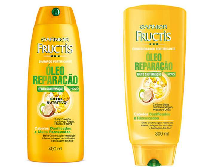 Shampoo e condicionar garnier fructis