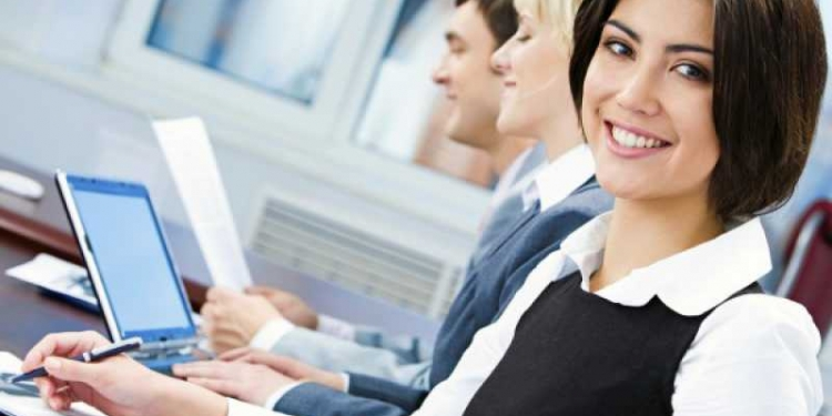 Mulher no ambiente de trabalho