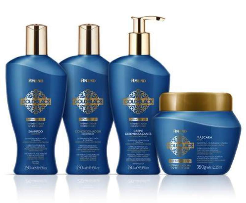 Amend Gold Black é um dos melhores shampoos para cabelos com progressiva
