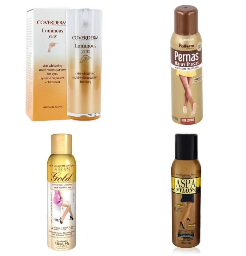 produtos para fazer maquiagem e disfarçar as varizes