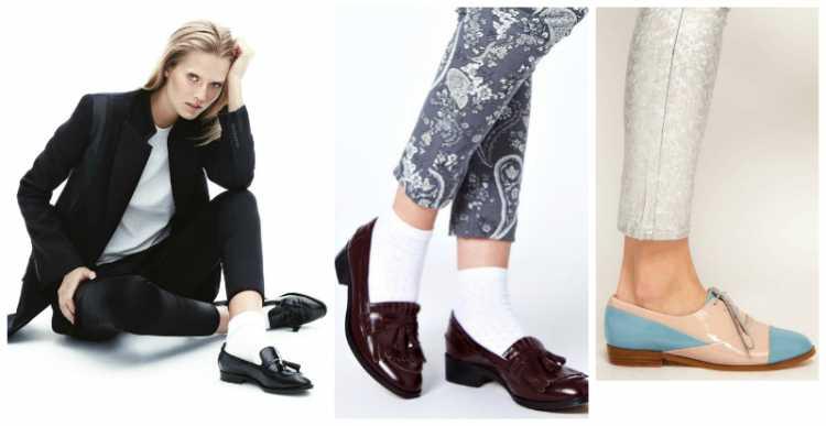 Mulheres que usam sapatos masculinos