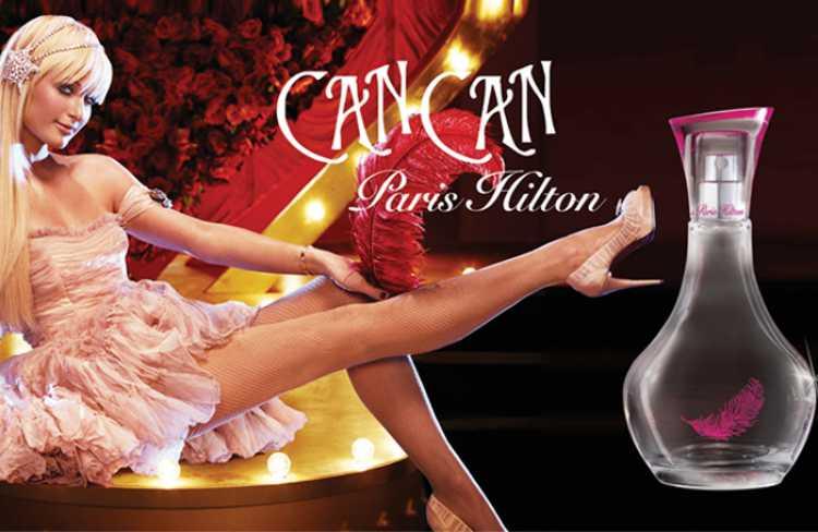 Can Can, de Paris Hilton, é um perfume incrivelmente doce e açucarado com notas de vinho branco, tulipas, açúcar e laranja.