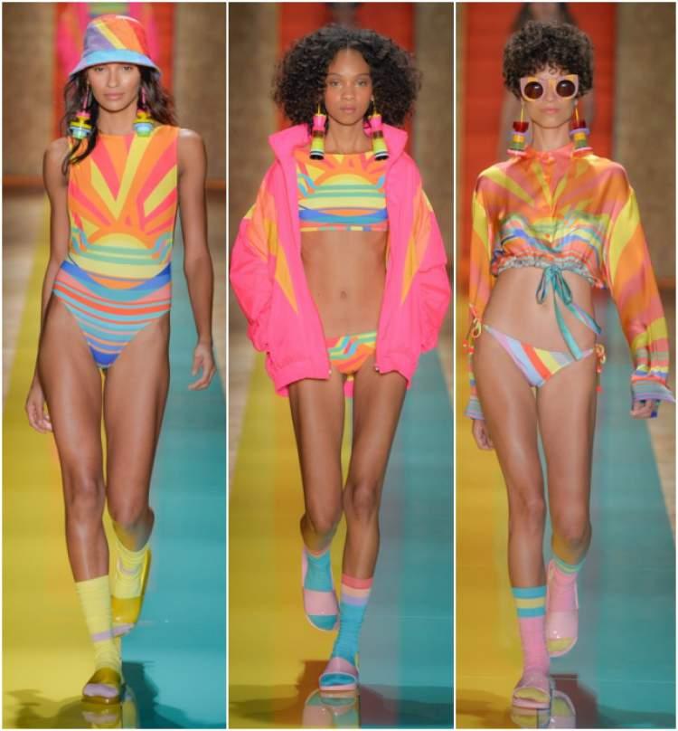 Para quem gosta de modelos de biquínis e maiôs coloridos, claro, eles terão seu lugar ao sol, porém, brigarão de igual com tons mais sóbrios.
