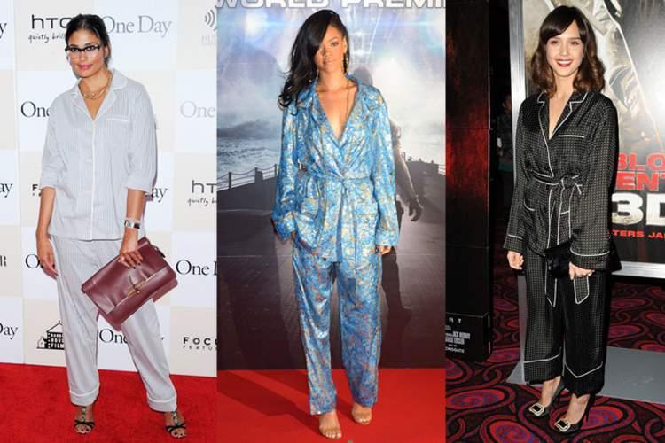 o pijama virou hit no street style e, claro, não demorou a cair no gosto das celebridades, it girls e fashionistas
